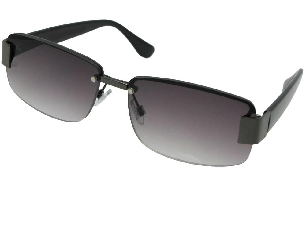 Semi Rimless Fashion Full Lens Reading Sunglasses Style R43 - Sunglass Rage b2dfaeed0