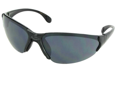 Style SR20 Casual Sport Sunglasses Clear Gray Frame Gray Lenses