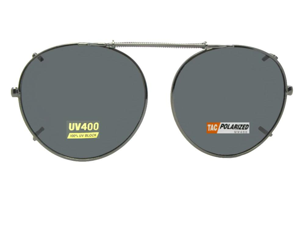 7deea00860 Semi Round Polarized Clip-on Sunglasses - Sunglass Rage
