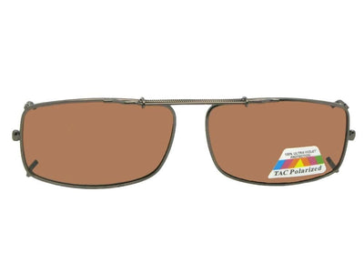 Slim Rectangle Polarized Clip-on Sunglasses