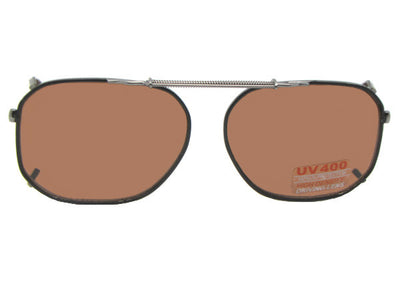 Modified Aviator Non Polarized Amber Clip Ons