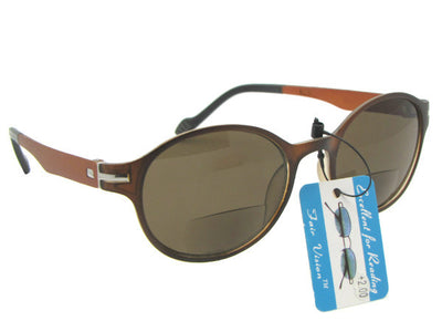 Lightweight Flexible Bifocal Sunglasses Style B111