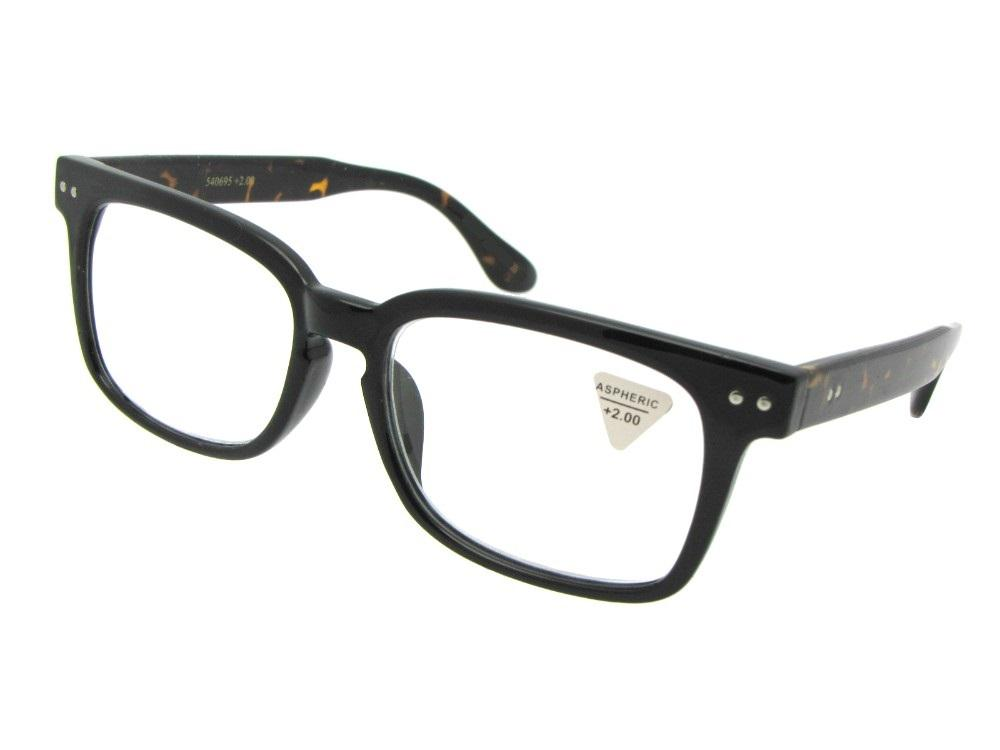 Style R3 Reading Glasses Black Front Tortoise Temple