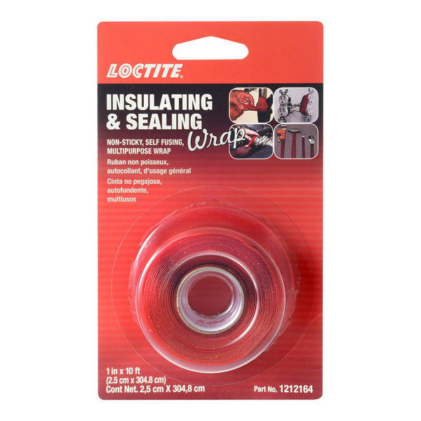 Loctite Red Insulating & Sealing Wrap | 1in x 10ft Roll | 1212164