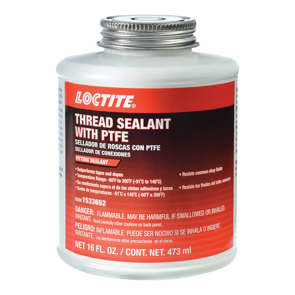 Loctite Thread Sealant with PTFE | 16oz Brushtop Can | 1533652