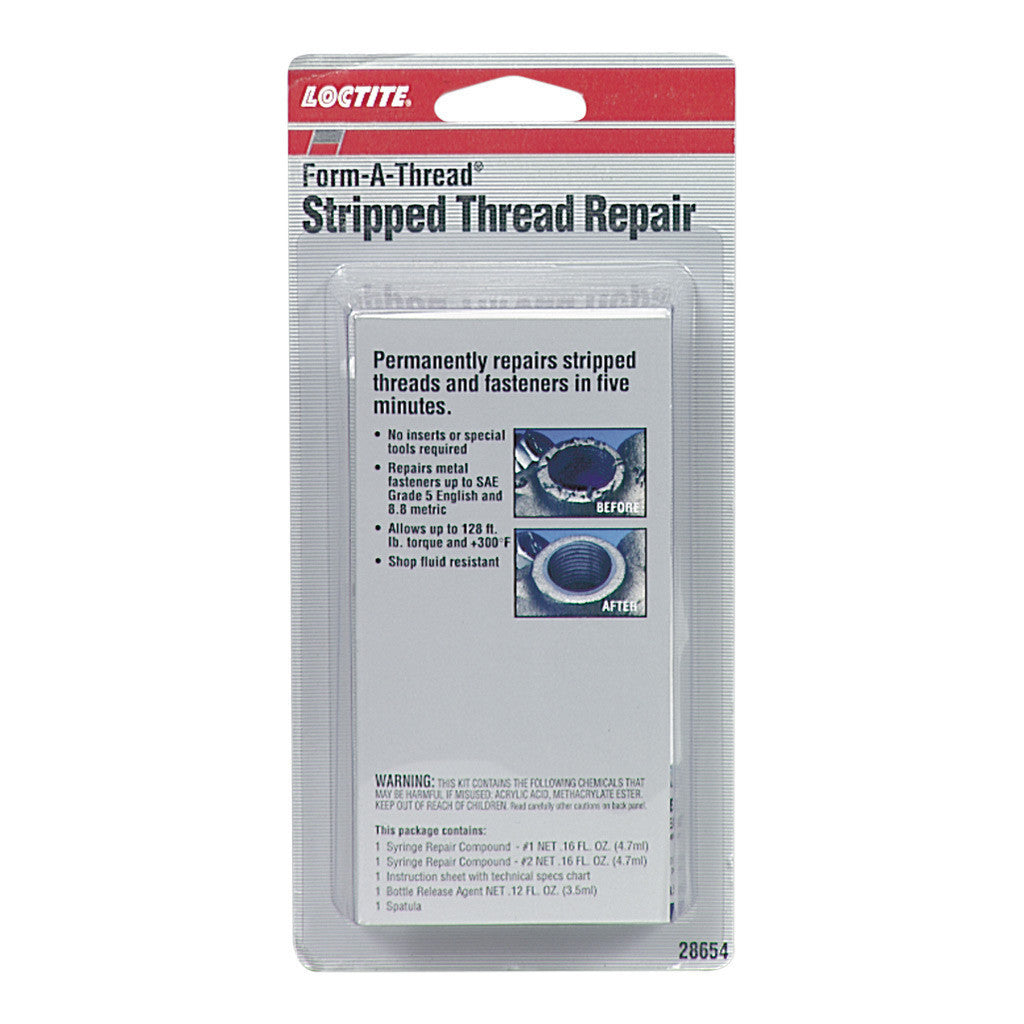 Loctite FORM-A-THREAD Stripped Thread Repair Kit | 28654