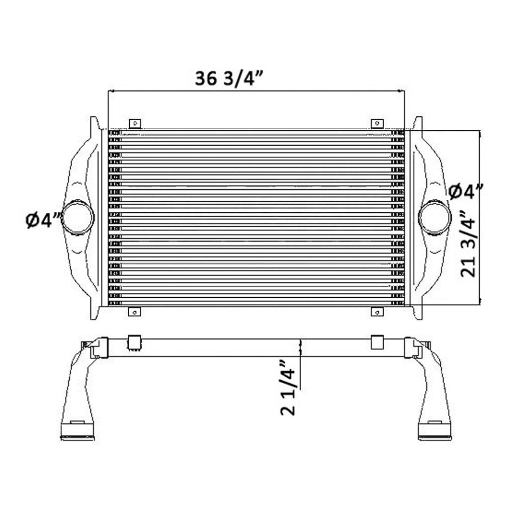 Charge Air Cooler Freightliner 61 1004 Big Machine Parts Columbia Tank Schematic