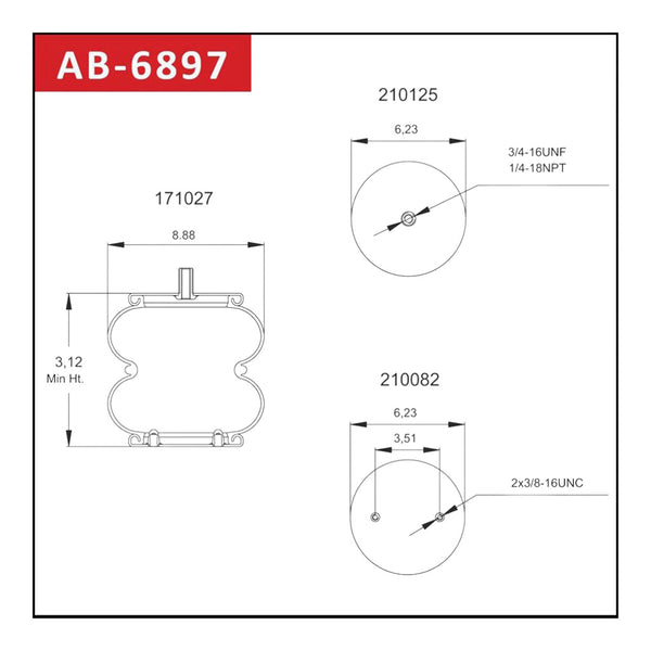 Air Spring- Double Convoluted AB-6897