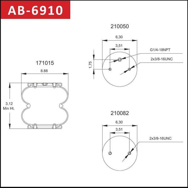 Air Spring- Double Convoluted AB-6910