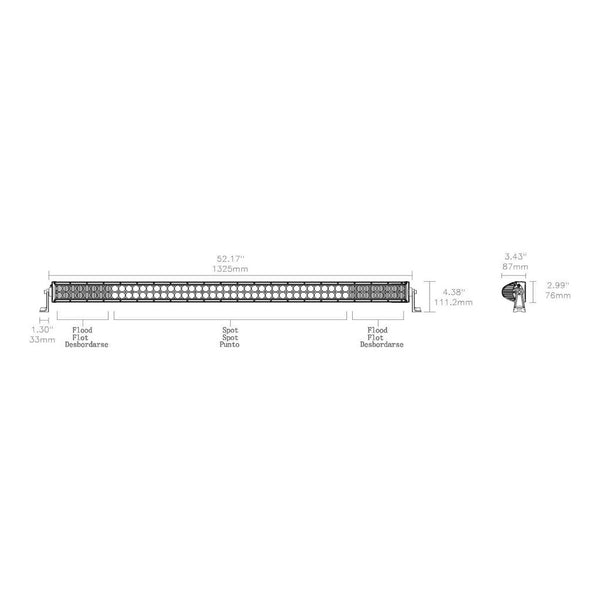 Truck LED Light Bar | 50-Inch Double Row LED | CWL552D