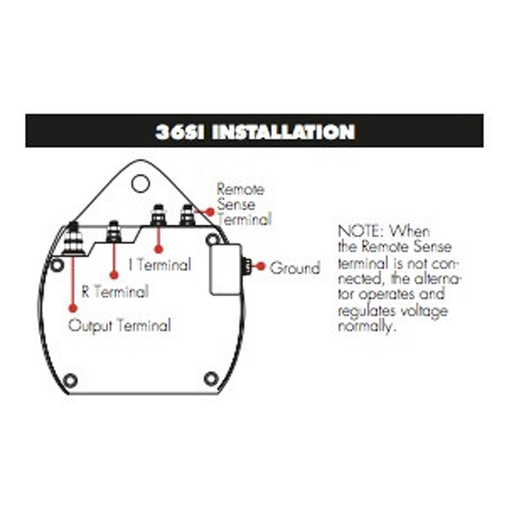 Delco Remy Alternator Wiring Diagram 07 Volvo Electrical 50dn Replacement 36si Big Machine Parts One Wire