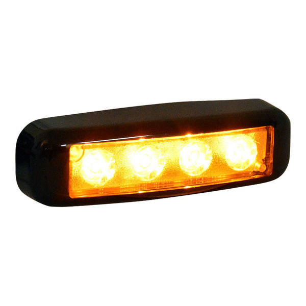 Versa Star 4 Amber LED Flush Mount | DLX4-AA
