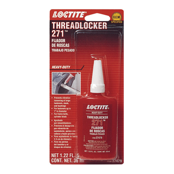 Loctite Threadlocker 271 | Heavy Duty | 36ml Bottle | 37479