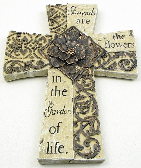 Cement Cross Wall Plaque