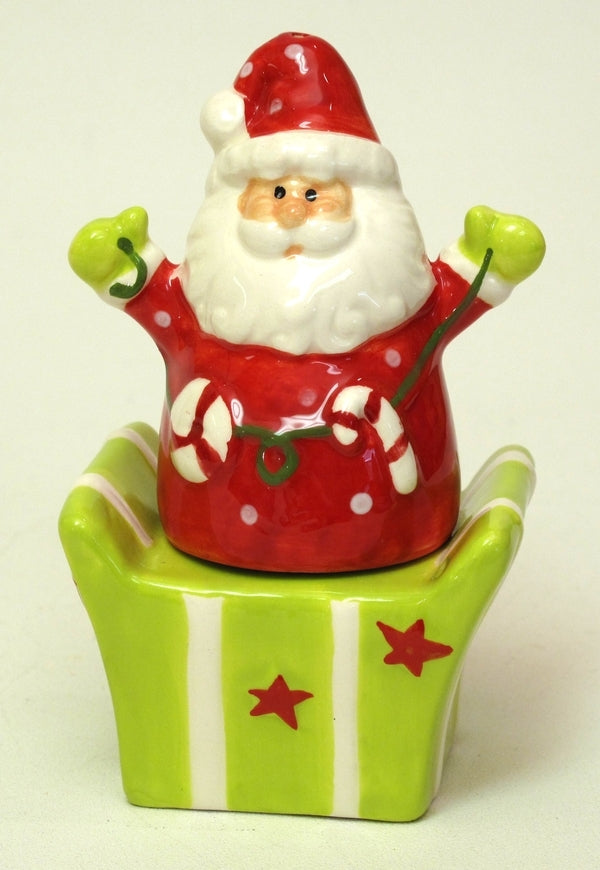 Ceramic Santa/Gift Box Salt & Pepper Set