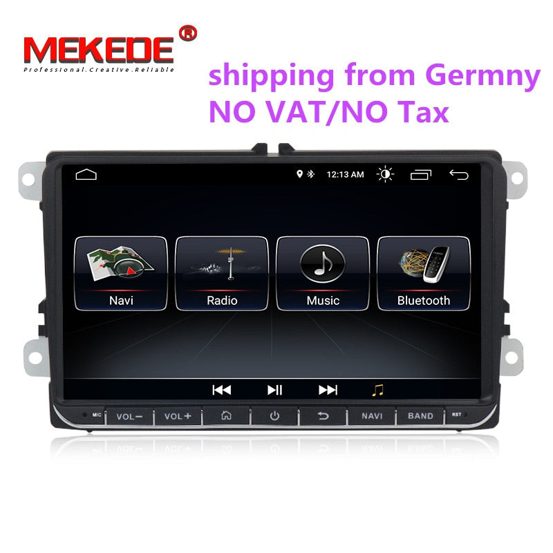 1024x600 Android 8.0 car radio gps for VW polo golf passat tiguan skoda yeti superb rapid autoradio multimedia with WIFI