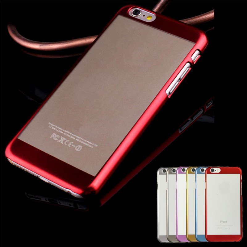 For Apple iPhone 6/6S 4.7''  Case Ultra Thin Luxury Metal Electroplate Back Cover Case