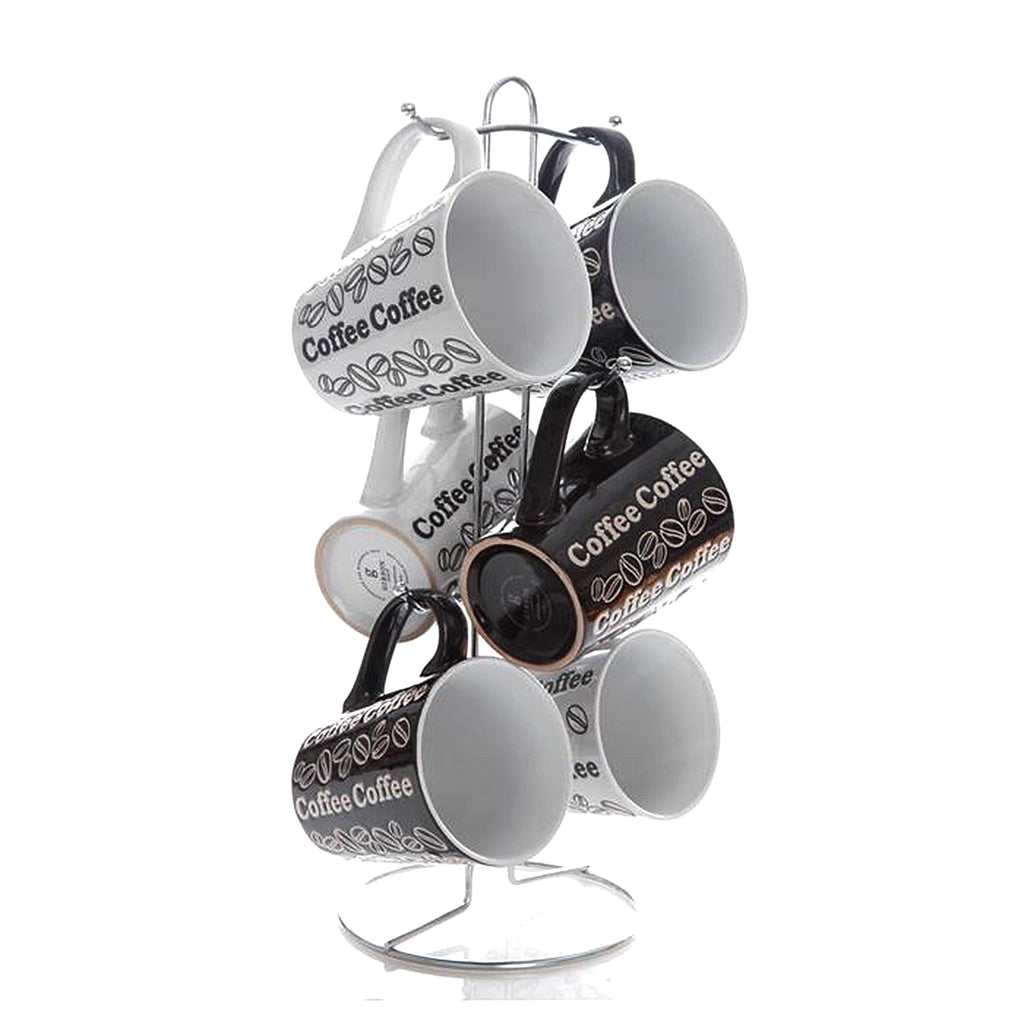 Gibson Home Night & Day 6-Piece Mug Set with Rack
