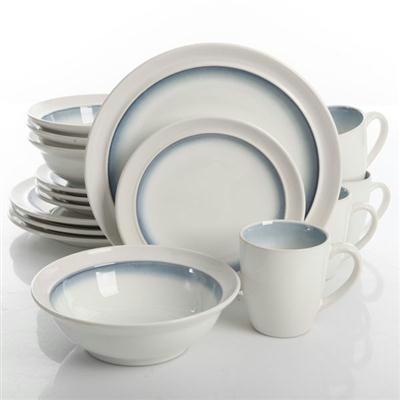 Ge Lawson Dnrwr White Teal 16pc