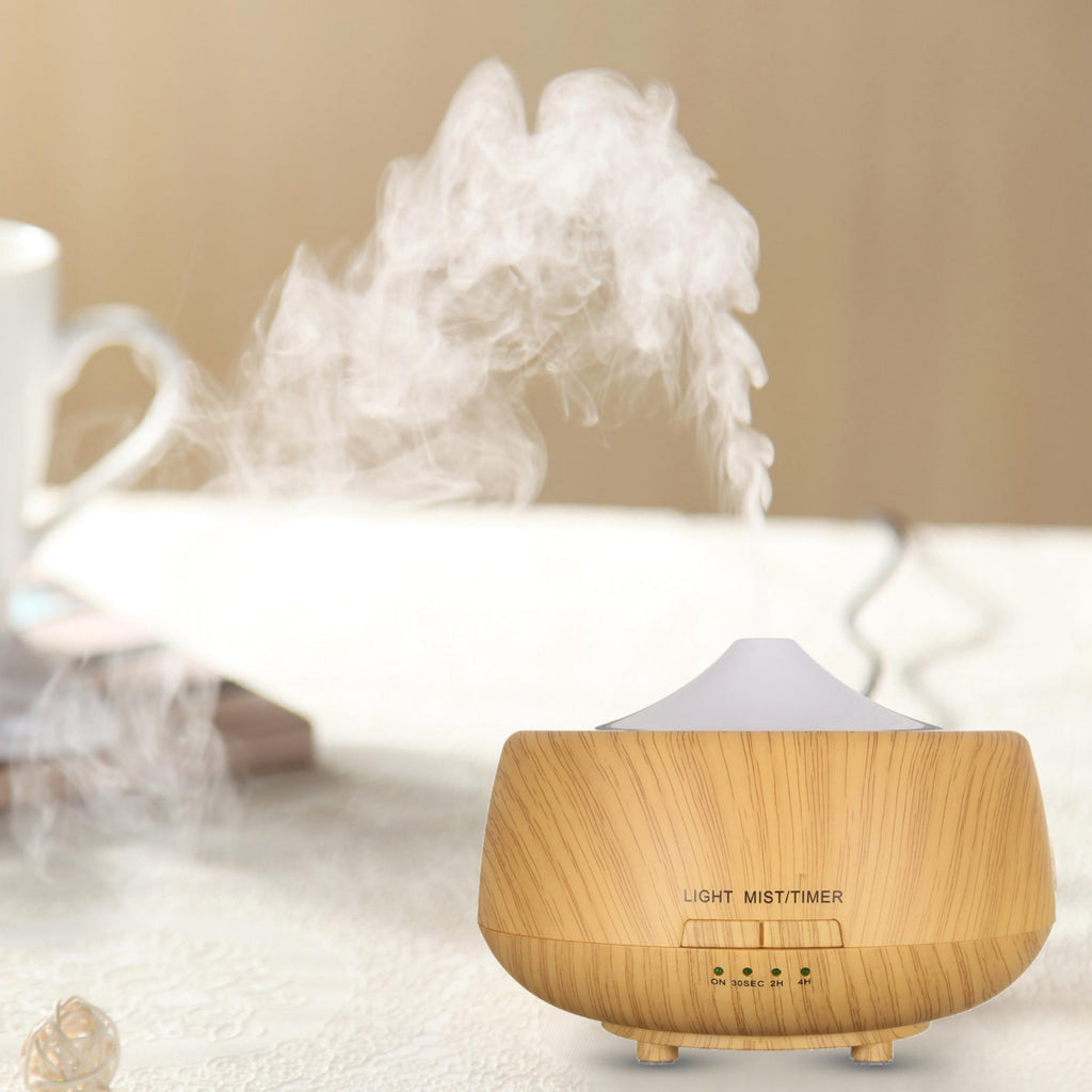Ultrasonic Color-changing Wood Grain LED Aroma Diffuser Humidifier Aromatherapy Spa Essential Oil