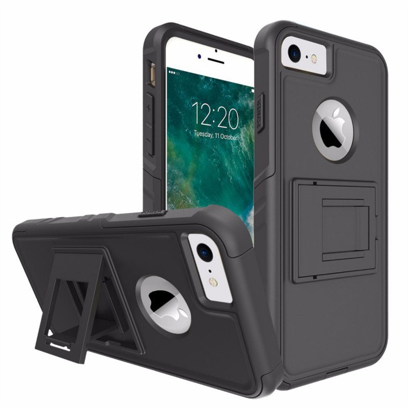 2 In 1 Non-slip Built-in Kickstand Shockproof Case For iPhone 7/8