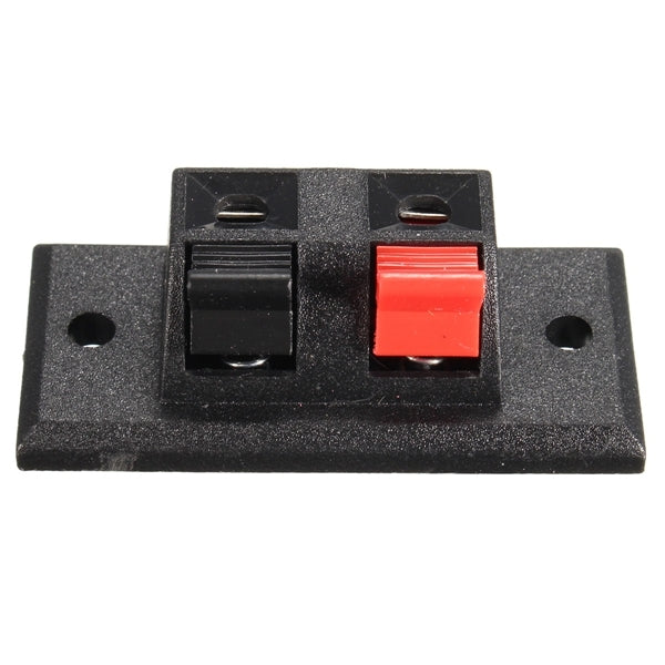 2 Way Speaker Terminal Strip Block Push Release Connector Plate LED Stereo