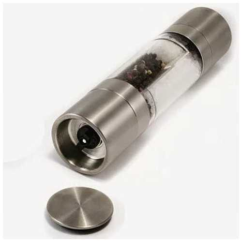 SLEEK AND PROMPT Salt and Pepper SINGLE GRINDER WITH DUAL PURPOSE