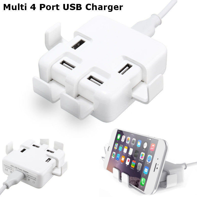 DC 5V/8A Quick Charge 4 Port USB Wall Charger Power Adapter For iPhone 6s Samsung