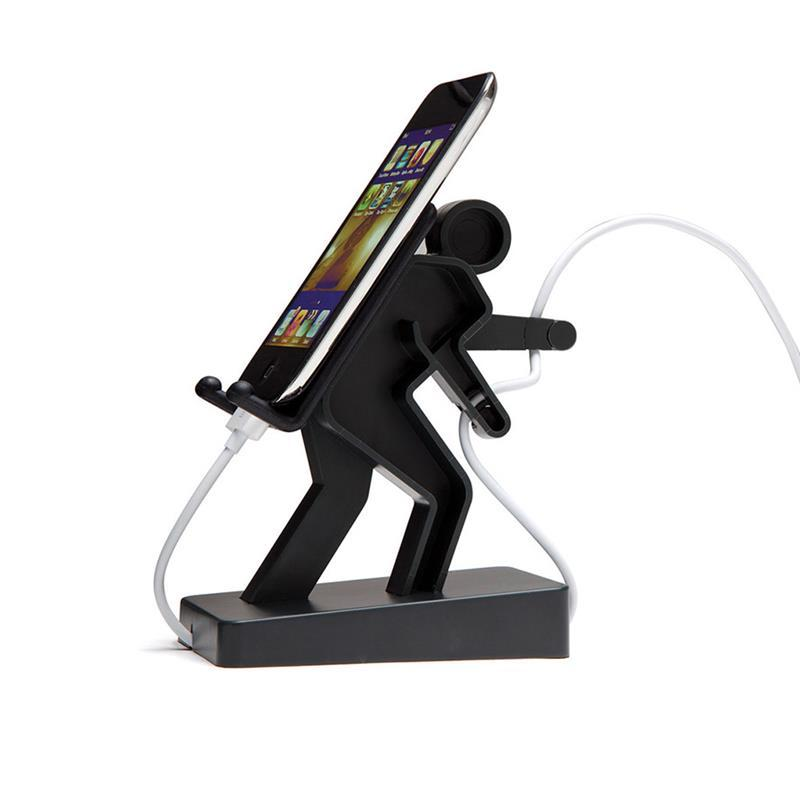 2 in 1 Boris USB Cable Organizer Desktop Phone Holder Stand for iPhone X Samsung S8 Smart Phone