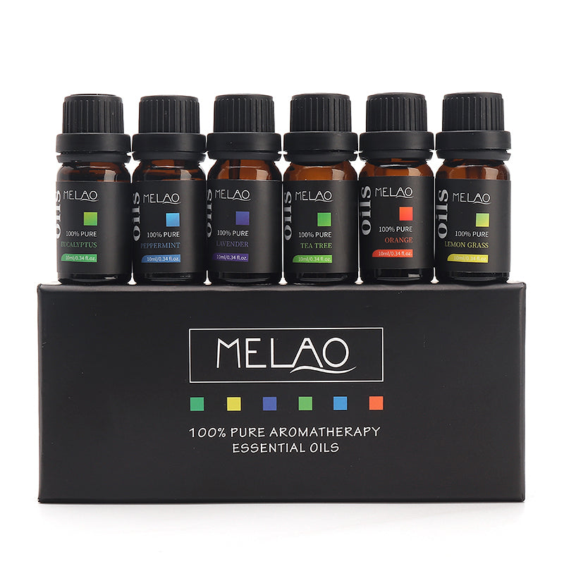 Melao 6pcs Water-soluble Aromatherapy Essential Oils Kit Spa Home