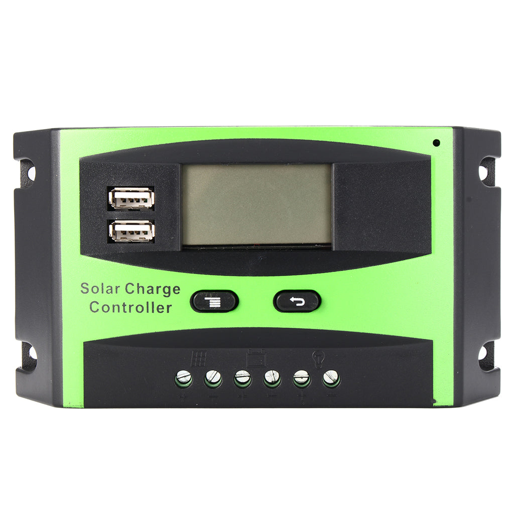 30A Smart Solar Charge Controller Wind Solar Hybrid Charge Controller with LCD Display