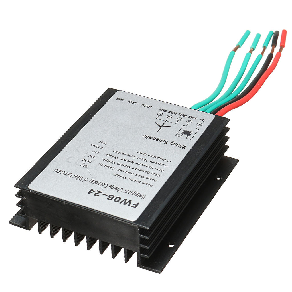 24V 600W Waterproof Wind Turbine Wind Generator Battery Charge Controller Regulator