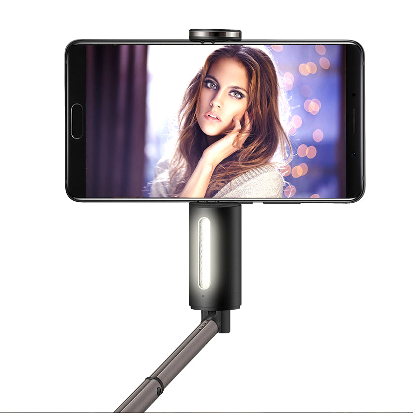 Huawei 2 in 1 Portable LED Flash Light Bluetooth Selfie Stick Monopod for iPhone X 8 Plus S8 S9 Mi6