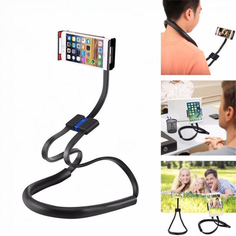 Haweel 4 in 1 Neck Hanging Waist Stand Selfie Stick 360 Degree Rotation Lazy Holder for Cell Phone