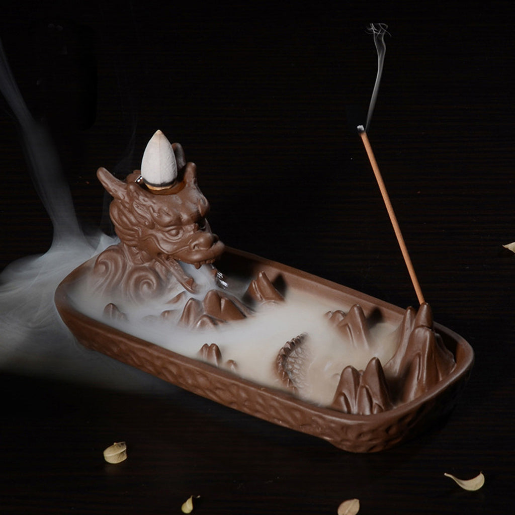 Chinese Ceramic Backflow Incense Burner