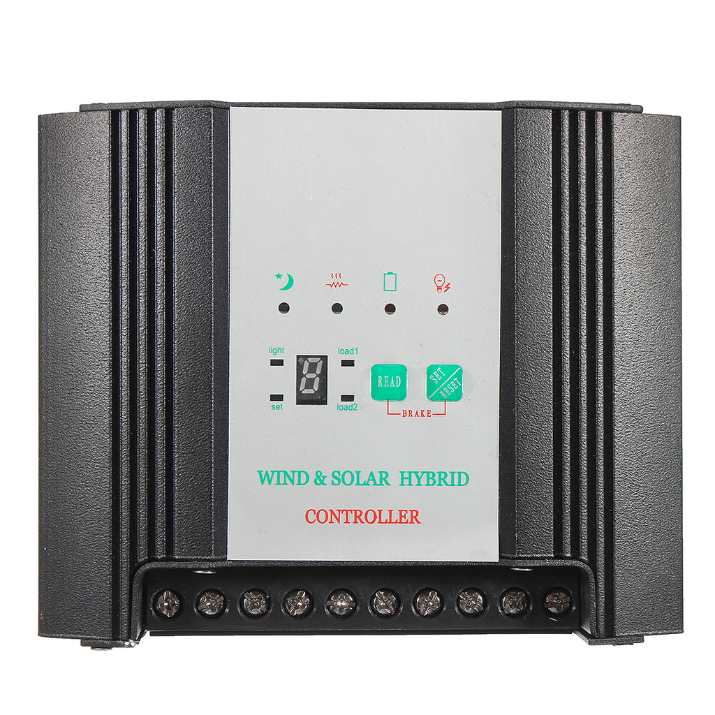 WWS02-12-B00D 12V Solar Hybrid Wind Generator Controller LED Solar Power 100W Wind Power 200W