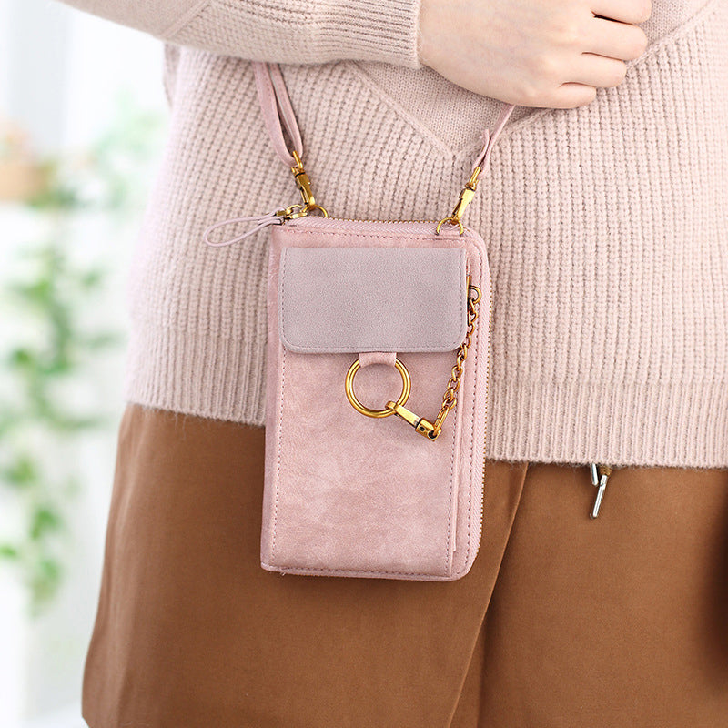 Women PU Leather Large Capacity Storage Pouch Wallet Shoulder Crossbody Bag for iPhone Xiaomi