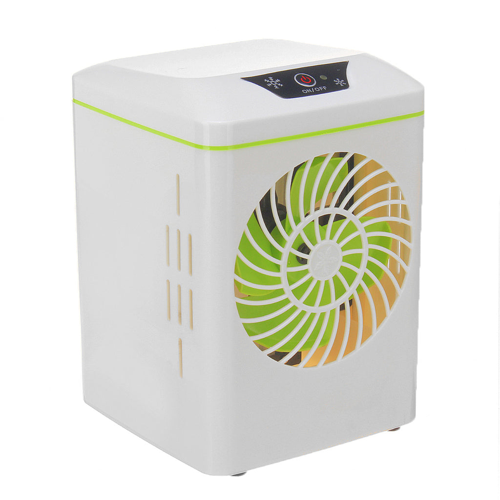 YJ-800 5V Mini Desktop Portable Air Conditioner Personal Space Air Cooler USB Cooling Fan