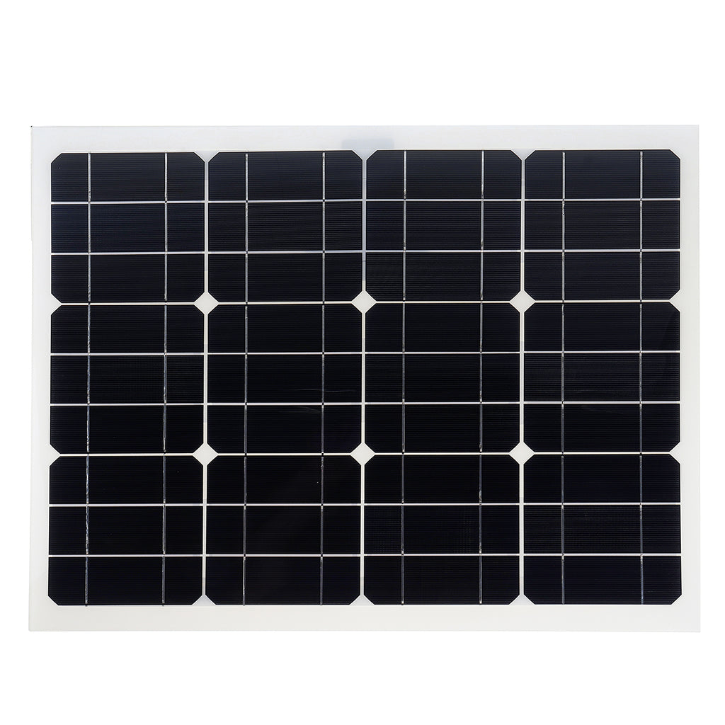 Solar Panels Double USB Interface 30W 12V/5V DC Crocodile Clip Four Heads Monocrystalline Solar Panel