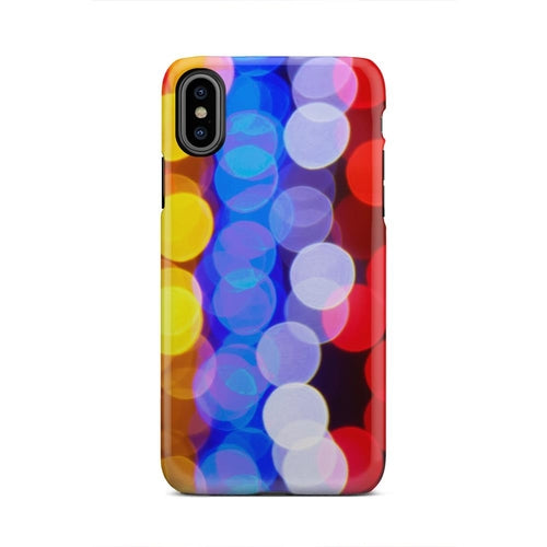 Out Of Focus Colored Street Lights iPhone X Case