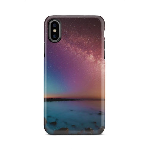 Beautiful Ambient Sky Night Northern iPhone X Case