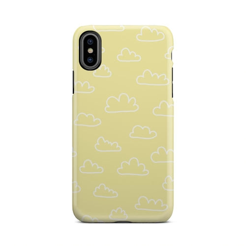 Yellow And White Cloudy Day Cute Clouds iPhone X