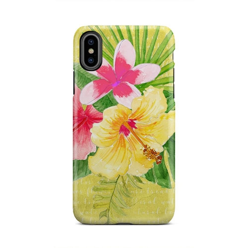 Yellow Pink And Green Floral Cute Fun iPhone X