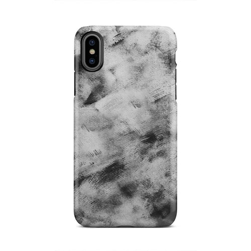 Black And White Cloud Brush Strokes iPhone X Case