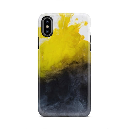 Yellow Marble Blast Ombre iPhone X Case