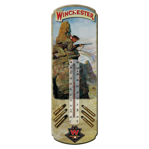 Tin Thermometer Winchester Hunter