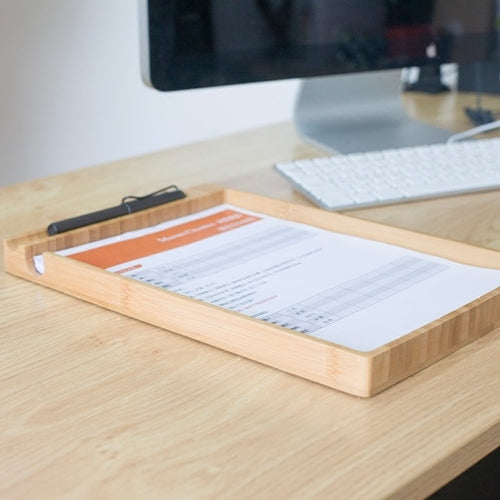 Wooden Document Desk Tray
