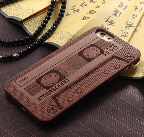 Wood Cassette iPhone Case