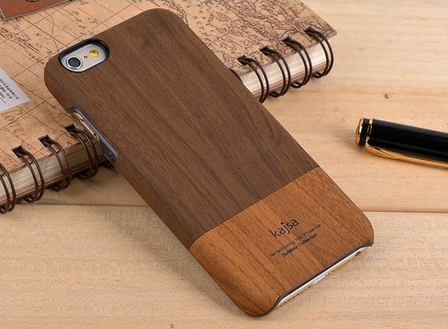 Wood Grain Leather iPhone Case