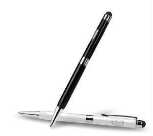 ADESSO 2-IN-1 BLACK & WHITE STYLUS PEN FOR NAVIGATING ALL TABLETS , SMART PHONES